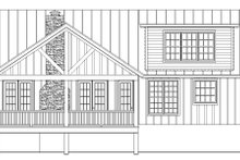 House Design - Cabin Exterior - Rear Elevation Plan #932-123