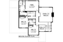Prairie Floor Plan - Upper Floor Plan Plan #70-1283