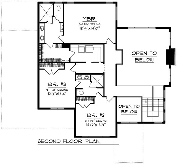Prairie Floor Plan - Upper Floor Plan Plan #70-1283