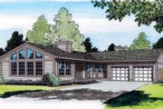 Modern Style House Plan - 3 Beds 2 Baths 1858 Sq/Ft Plan #312-434 Exterior - Front Elevation