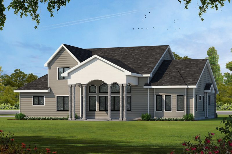Country Exterior - Rear Elevation Plan #20-2133