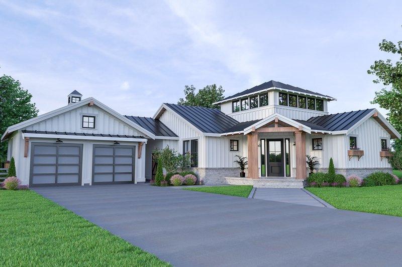 House Plan Design - Farmhouse Exterior - Front Elevation Plan #1070-74