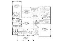 Traditional Floor Plan - Main Floor Plan Plan #406-9664
