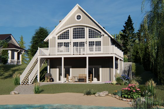 Beach Exterior - Rear Elevation Plan #1064-26