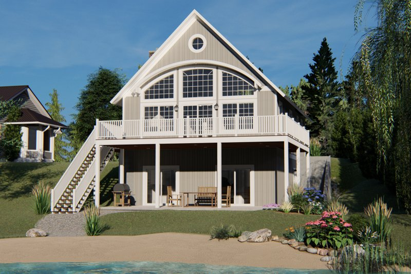 House Design - Beach Exterior - Rear Elevation Plan #1064-26