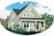 Farmhouse Style House Plan - 3 Beds 2.5 Baths 1593 Sq/Ft Plan #81-133 Exterior - Front Elevation
