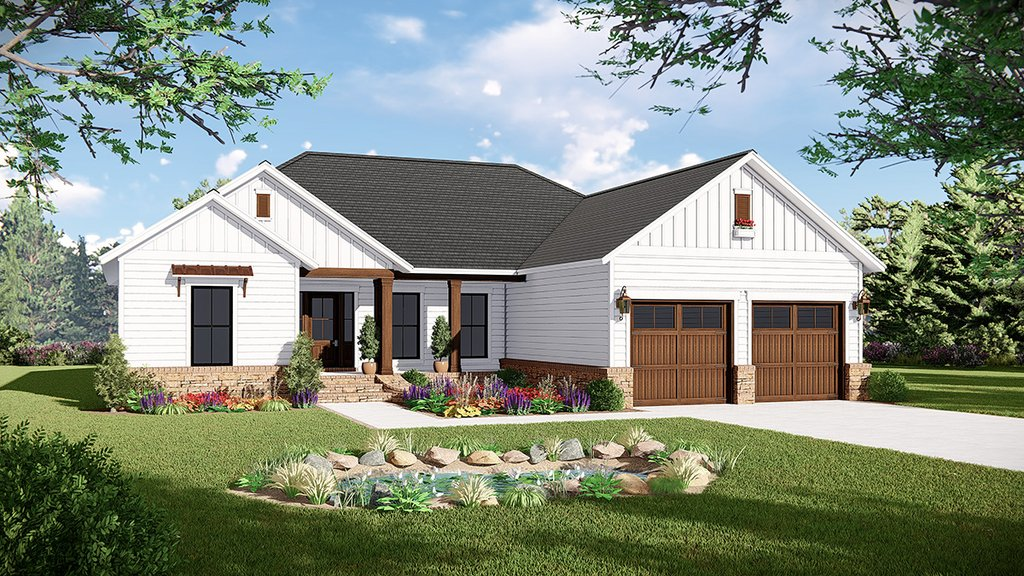 Country Style House Plan 3 Beds 2 Baths 1600 Sq Ft Plan