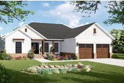 Country Style House Plan - 3 Beds 2 Baths 1600 Sq/Ft Plan #21-454 Exterior - Front Elevation