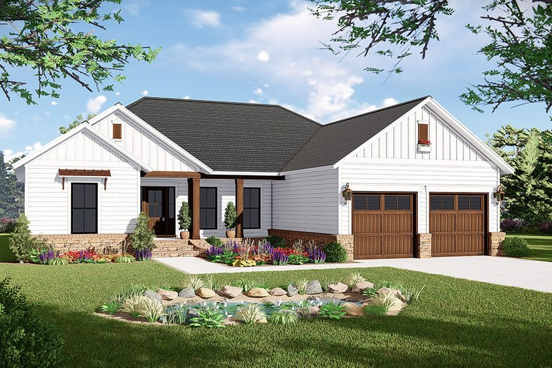 House Plan Design - Country Exterior - Front Elevation Plan #21-454