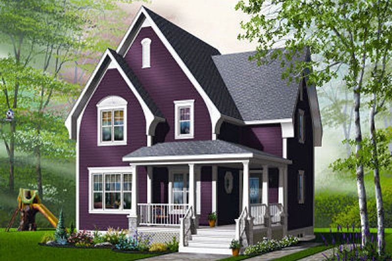 Traditional Exterior - Front Elevation Plan #23-821 - Houseplans.com