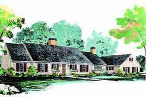 Traditional Exterior - Front Elevation Plan #72-300