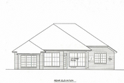 Traditional Style House Plan - 3 Beds 2 Baths 1710 Sq/Ft Plan #310-294 Exterior - Rear Elevation
