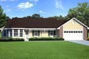 Farmhouse Style House Plan - 3 Beds 2 Baths 1583 Sq/Ft Plan #312-527 Exterior - Other Elevation
