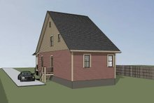 Dream House Plan - Cottage Exterior - Rear Elevation Plan #79-177