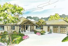 Craftsman Exterior - Front Elevation Plan #124-731