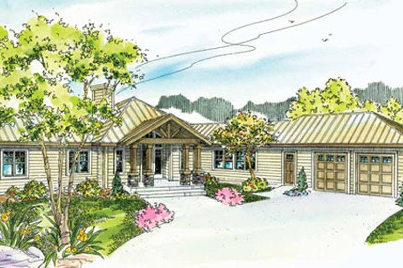 Craftsman Exterior - Front Elevation Plan #124-731