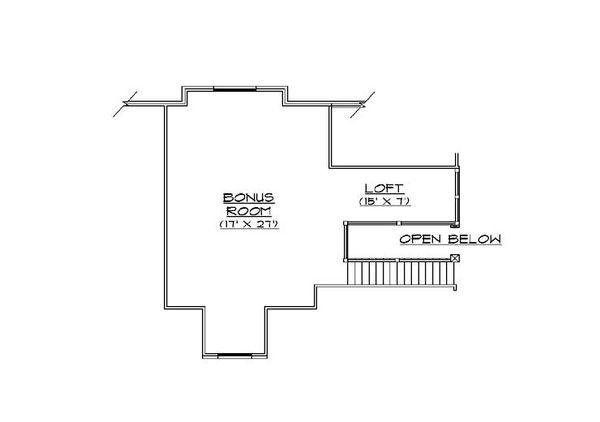 Bungalow Floor Plan - Upper Floor Plan Plan #5-414