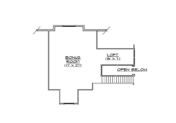 Bungalow Floor Plan - Upper Floor Plan Plan #5-414