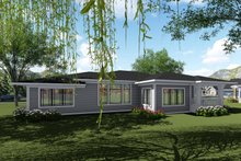 Modern Exterior - Rear Elevation Plan #70-1424