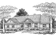 Traditional Style House Plan - 3 Beds 2 Baths 2115 Sq/Ft Plan #70-306 Exterior - Front Elevation