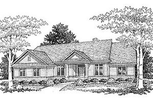 Traditional Exterior - Front Elevation Plan #70-306