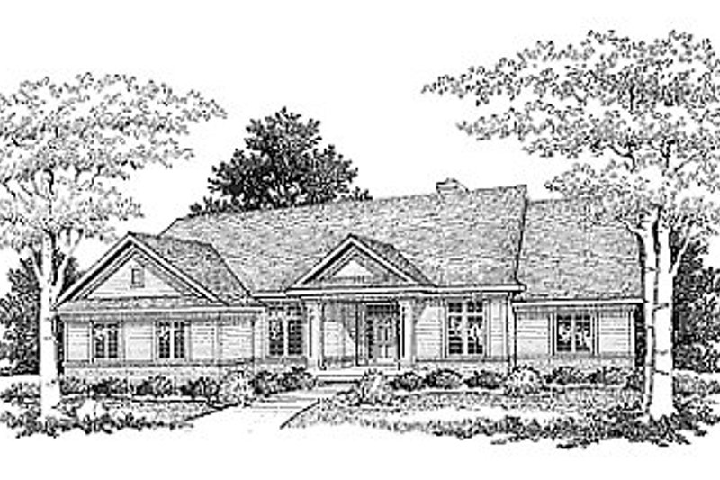 Traditional Style House Plan - 3 Beds 2 Baths 2115 Sq/Ft Plan #70-306