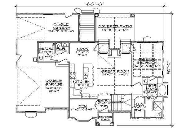 European Floor Plan - Main Floor Plan Plan #5-372