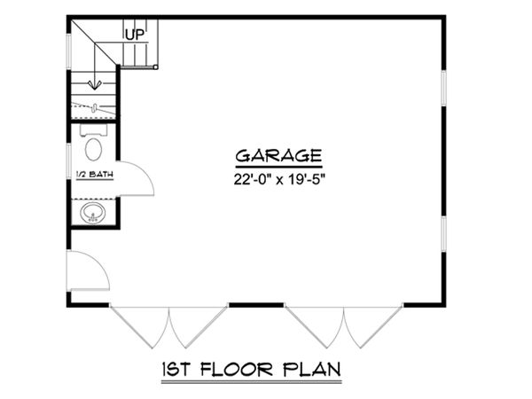 Country Floor Plan - Main Floor Plan Plan #1064-24