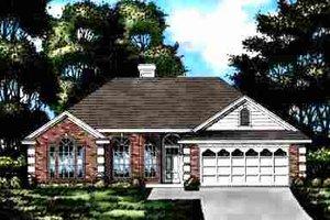 House Plan Design - European Exterior - Front Elevation Plan #40-115