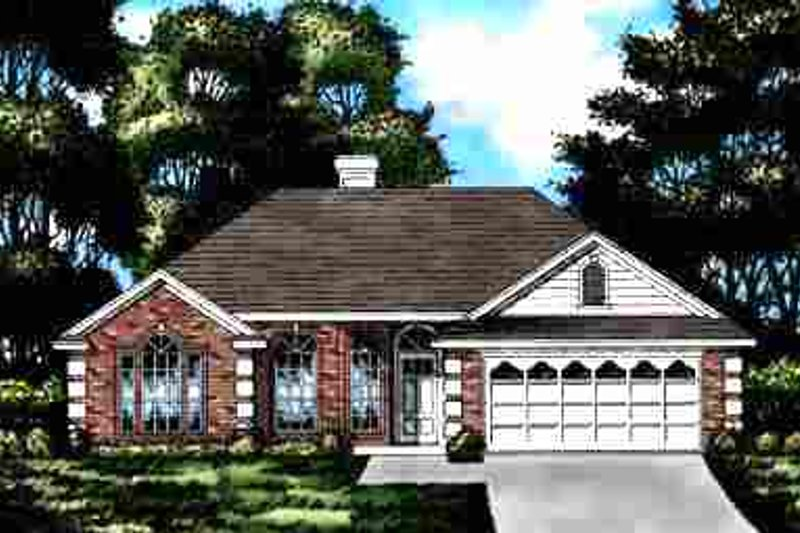 European Exterior - Front Elevation Plan #40-115