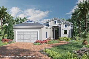 Ranch Exterior - Front Elevation Plan #930-525