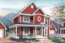 Home Plan - Country Exterior - Front Elevation Plan #23-2107