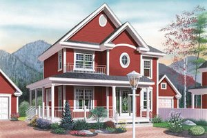 Country Exterior - Front Elevation Plan #23-2107