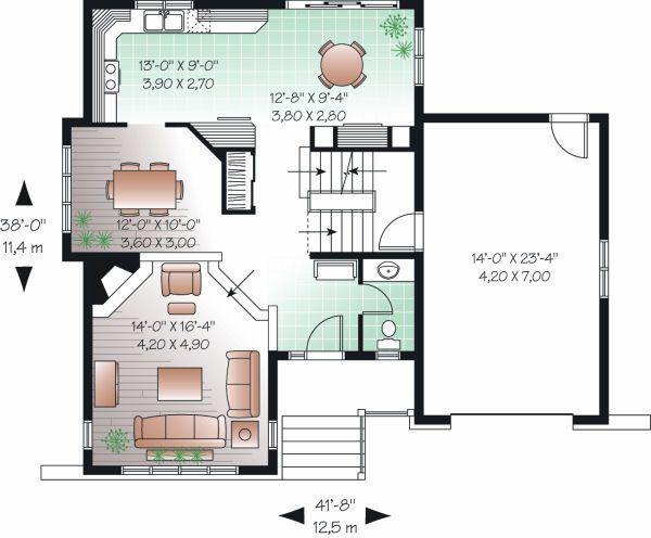 Traditional Floor Plan - Main Floor Plan Plan #23-811
