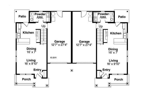 House Plan Design - Cottage Floor Plan - Main Floor Plan #124-1075