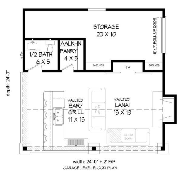 Country Floor Plan - Main Floor Plan Plan #932-237
