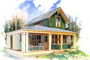 (1) One Bedroom House Plans