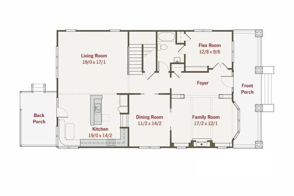 Craftsman Floor Plan - Main Floor Plan #461-11