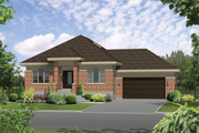 Contemporary Style House Plan - 3 Beds 1 Baths 1622 Sq/Ft Plan #25-4597 Exterior - Front Elevation
