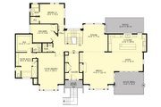 Contemporary Style House Plan - 4 Beds 3 Baths 4366 Sq/Ft Plan #132-226 Floor Plan - Main Floor Plan