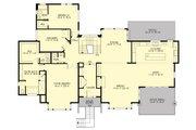 Contemporary Style House Plan - 4 Beds 3 Baths 4366 Sq/Ft Plan #132-226 Floor Plan - Main Floor