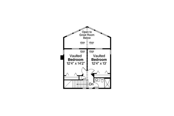 Contemporary Floor Plan - Upper Floor Plan Plan #124-1095