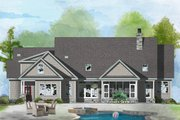 Ranch Style House Plan - 4 Beds 3.1 Baths 2512 Sq/Ft Plan #929-1059 Exterior - Rear Elevation