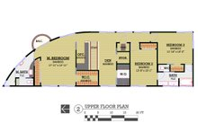 Modern Floor Plan - Upper Floor Plan Plan #450-6