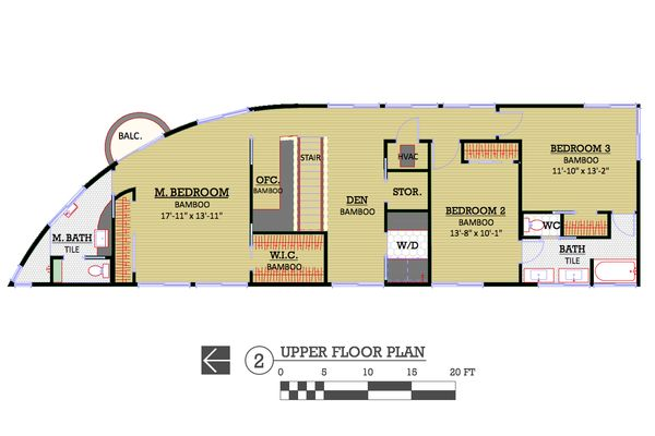 Modern Floor Plan - Upper Floor Plan Plan #450-6