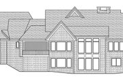 Craftsman Style House Plan - 3 Beds 3 Baths 5121 Sq/Ft Plan #51-581 Exterior - Rear Elevation
