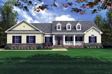 Southern Exterior - Front Elevation Plan #21-131