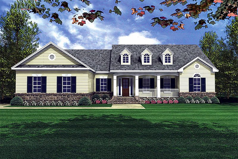Southern Style House Plan - 3 Beds 2.5 Baths 2001 Sq/Ft Plan #21-131