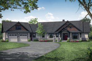 Craftsman Exterior - Front Elevation Plan #124-1113