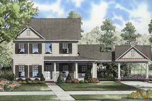 Colonial Exterior - Front Elevation Plan #17-2115